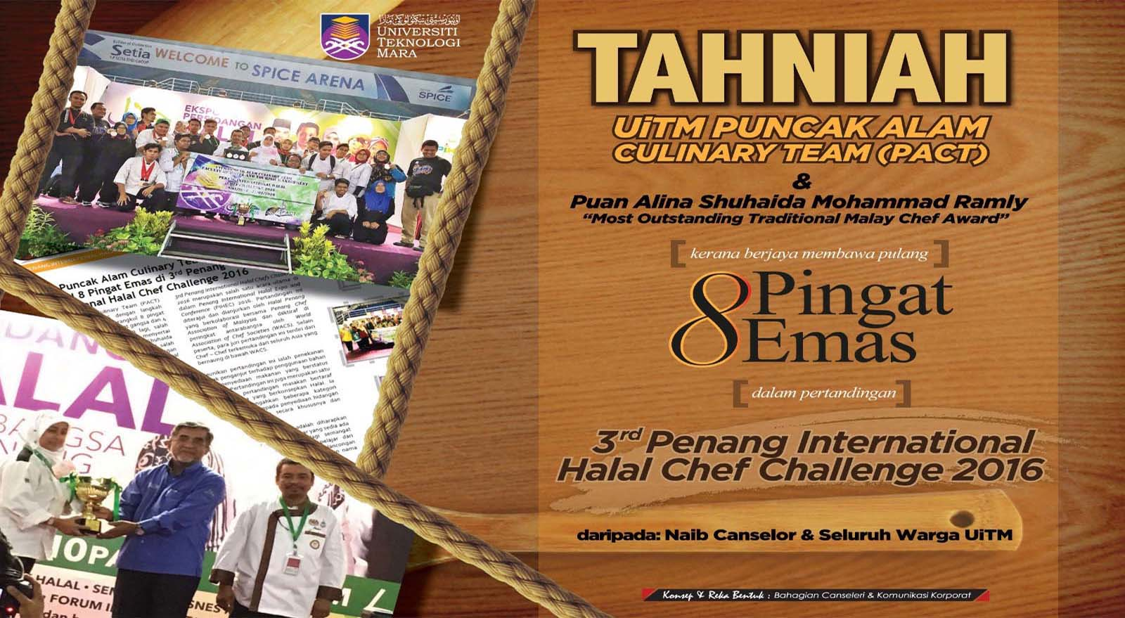 3rd Penang International Halal Chef Challenge 2016